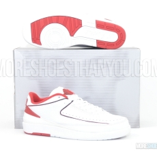 Air Jordan 2 Retro Low (White/Black-Varsity Red) 1