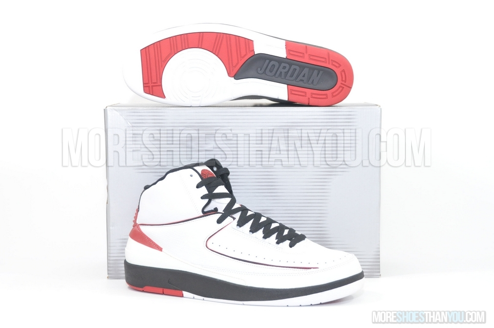 Air Jordan 2 Retro (White/Varsity Red-Black) 1