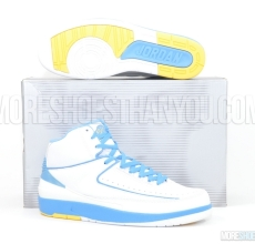 Air Jordan 2 Retro (White/University Blue-V Maize) 1