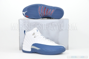 Air Jordan 12 Retro (White/French Blue-Mt Sil-V Red) 1