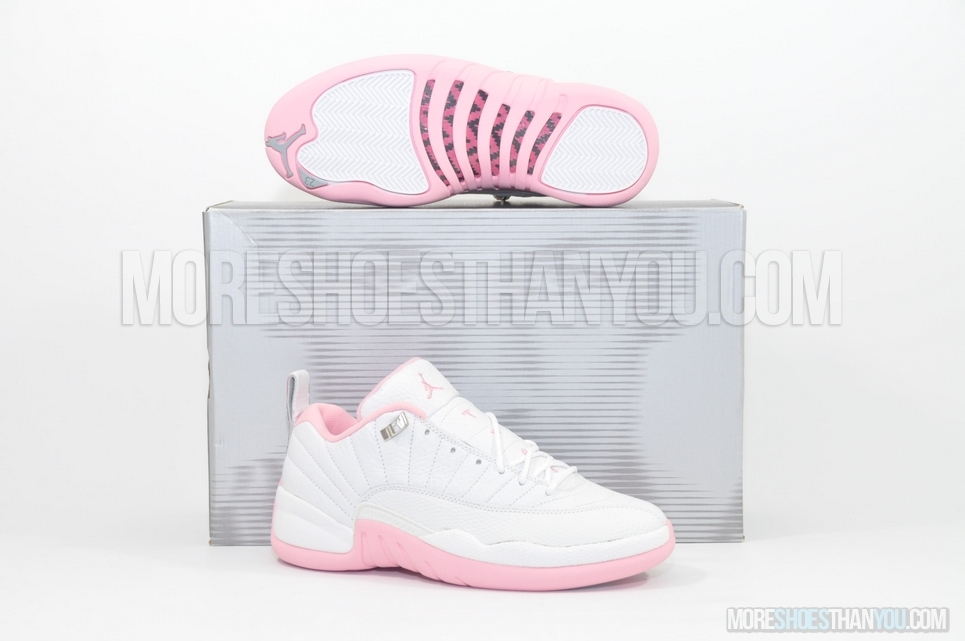 e9d9588a314f7b AIR JORDAN 12 RETRO LOWWHITE REAL PINK-MET SILVER - More Shoes Than You