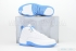Air Jordan 12 Retro (White/University Blue-Met Slvr) 1