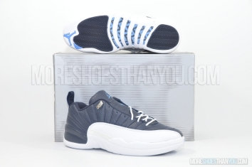 Air Jordan 12 Retro Low (Obsidian/University Blue-White) 1