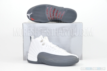 Air Jordan 12 Retro (White/Flint Grey-Met Silver) 1
