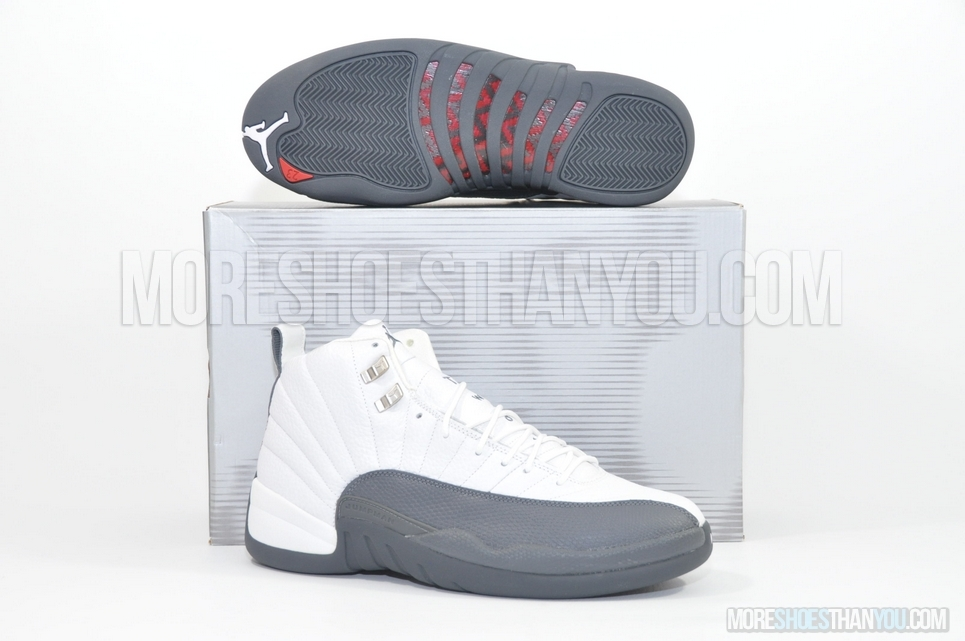 10d22b3451b2 AIR JORDAN 12 RETROWHITE FLINT GREY-MET SILVER - More Shoes Than You
