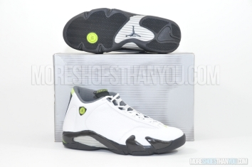 Air Jordan 14 Retro (White/Chartreuse-Black) 1
