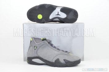 Air Jordan 14 Retro (Lt Graphite/Chartreuse-Black) 1