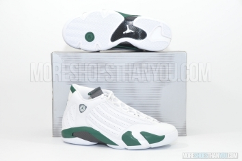 Air Jordan 14 Retro (White/Black Forest-Lt Graphite) 1