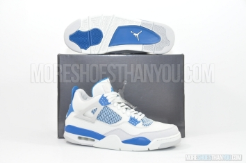 Air Jordan 4 Retro (Off White/Military Blue-N Grey) 1