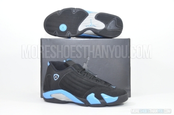 Air Jordan 14 Retro (Black/University Blue-Met Silver) 1