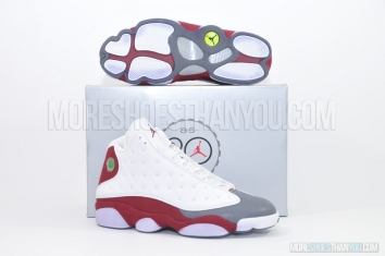 Air Jordan 13 Retro (White/Team Red-Flint Grey) 1
