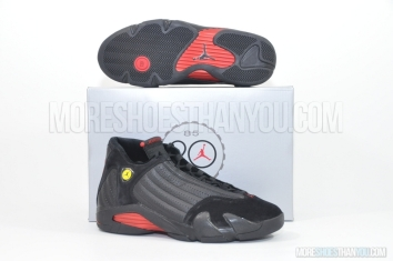 Air Jordan 14 Retro (Black/Varsity Red-Black) 1