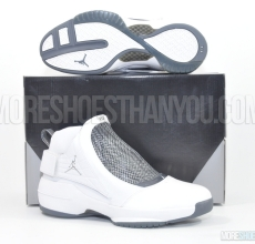 Air Jordan 19 (White/Chrome-Flint Grey-Black) 1