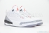 Air Jordan 3 Retro (White/Cement Grey-Fire Red) 2