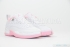 Air Jordan 12 Retro Low (White/Real Pink-Met Silver) 2