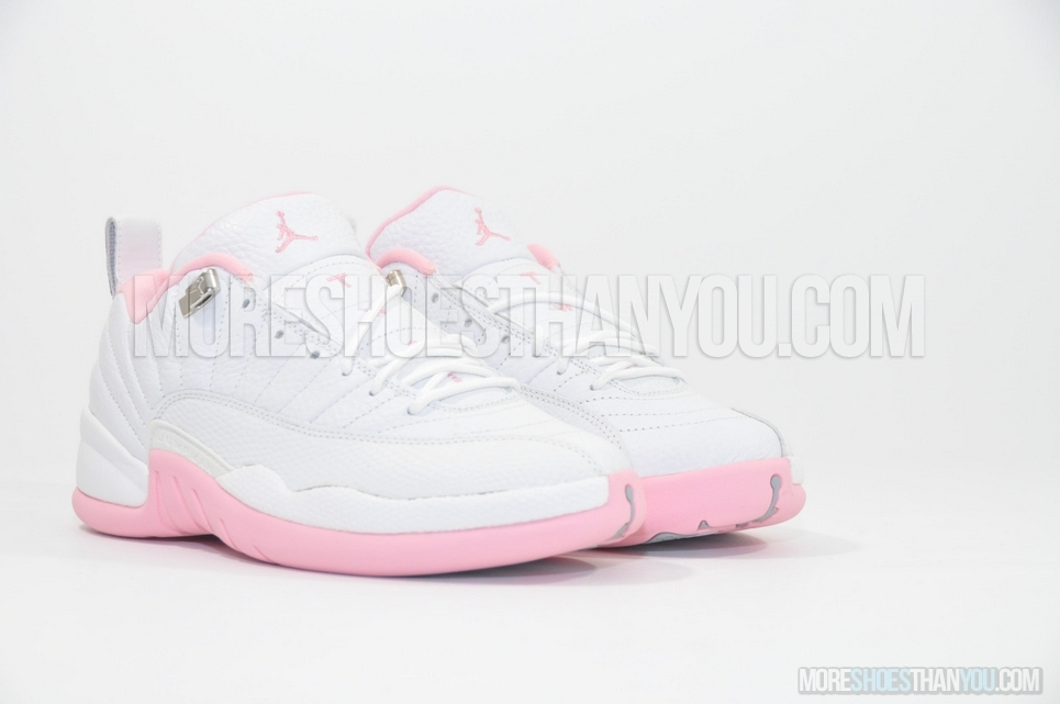 check out 93c92 ad79f ... Air Jordan 12 Retro Low (White Real Pink-Met Silver) 2 ...