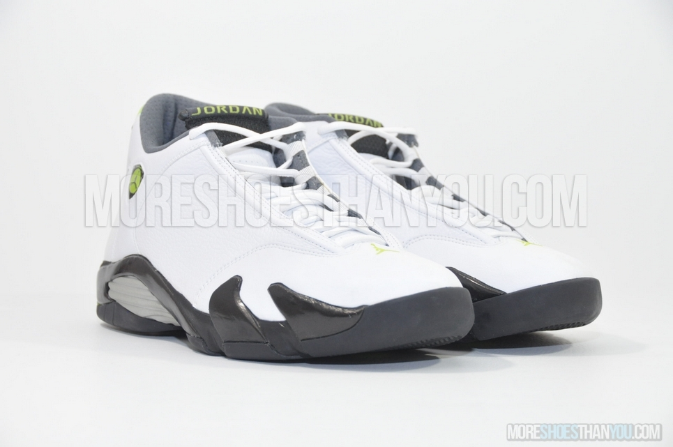 hot sale online ff048 49215 ... Air Jordan 14 Retro (White Chartreuse-Black) 2 ...
