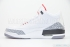Air Jordan 3 Retro (White/Cement Grey-Fire Red) 4