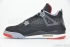 Air Jordan 4 Retro (Black/Cement Grey) 4