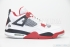Air Jordan 4 Retro (White/Varsity Red-Black) 3