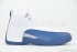 Air Jordan 12 Retro (White/French Blue-Mt Sil-V Red) 3