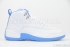 Air Jordan 12 Retro (White/University Blue-Met Slvr) 3