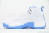 Air Jordan 12 Retro (White/University Blue-Met Slvr) 4