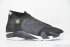 Air Jordan 14 (Black/Black-White-Indiglo) 3