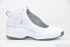 Air Jordan 19 (White/Chrome-Flint Grey-Black) 3