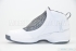 Air Jordan 19 (White/Chrome-Flint Grey-Black) 4