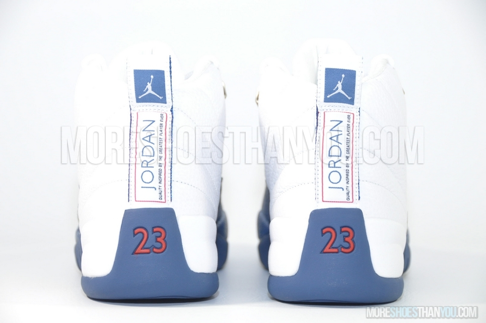 5a5ac1d34759 AIR JORDAN 12 RETROWHITE FRENCH BLUE-MT SIL-V RED - More Shoes Than You