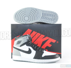 Air Jordan 1 Retro High OG (White-Black-Wolf Grey) 1