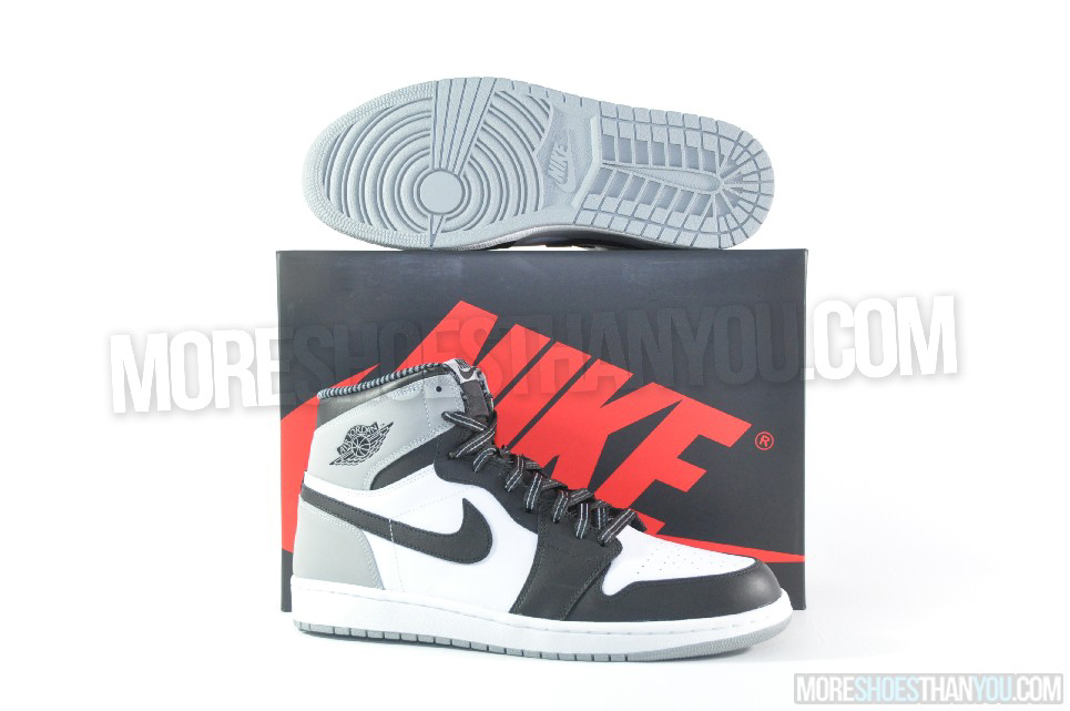 the latest fabdd b7a6e Air Jordan 1 Retro High OG (White-Black-Wolf Grey) 1