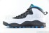 Air Jordan 10 Retro (White-Dk Powder Blue-Black) 4