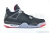 Air Jordan 4 Retro (Black-Cement Grey-Fire Red) 3