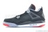 Air Jordan 4 Retro (Black-Cement Grey-Fire Red) 4