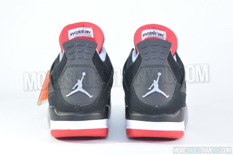 outlet store 20259 27bf6 AIR JORDAN 4 RETRO BLACK/CEMENT GREY-FIRE RED