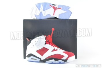 Air Jordan 6 Retro (White-Carmine-Black) 1