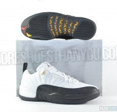 Air Jordan 12 Low Retro (White-Black-Taxi) 1