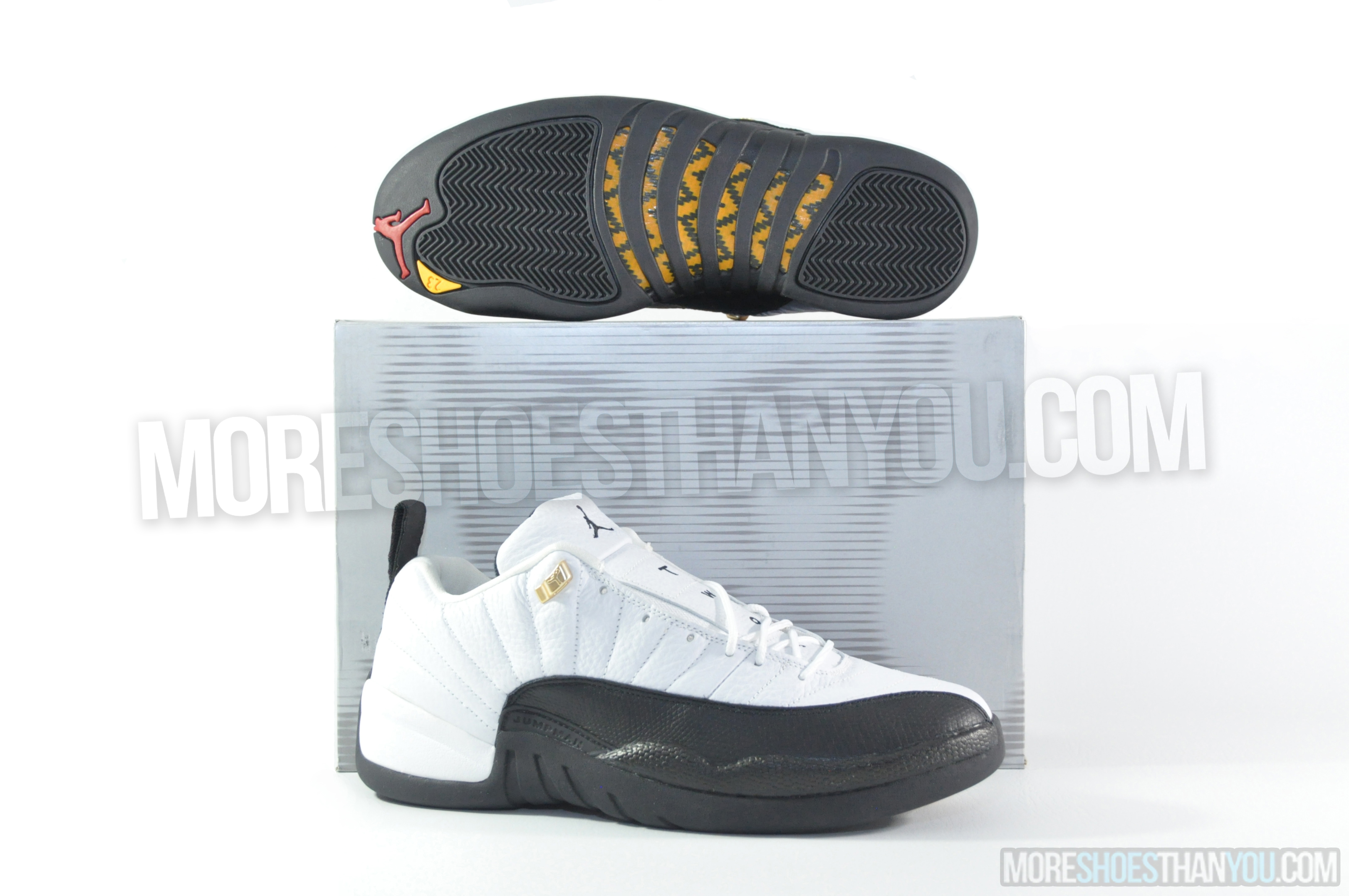 28d4aa9bb8e AIR JORDAN 12 RETRO LOWWHITE/BLACK-TAXI - More Shoes Than You