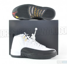 Air Jordan 12 Retro (White-Black-Taxi-Varsity Red) 1